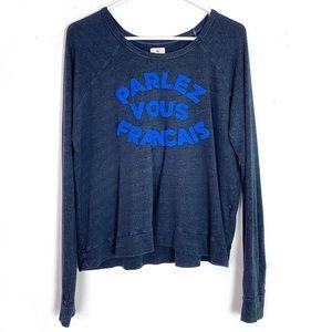 Sundry Parlez Vous Francais Pullover Sweatshirt L
